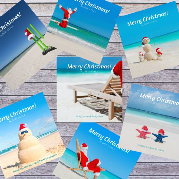 Summer Christmas social media package collage